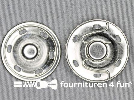 Mantel drukkers 30mm zilver