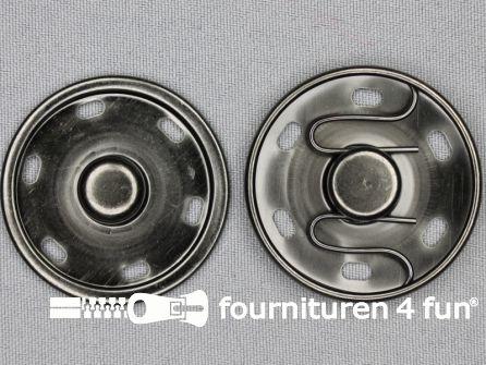 Mantel drukkers 42mm zwart zilver
