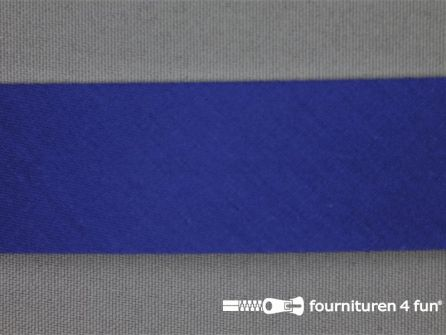 Rol 25 meter katoenen biasband 30mm kobalt blauw