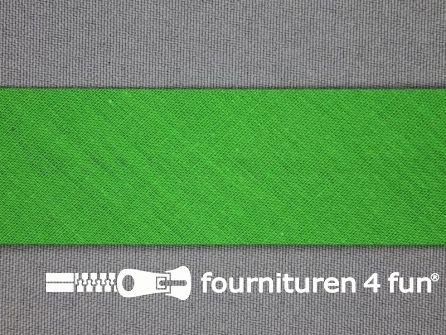 Rol 25 meter katoenen biasband 30mm helder groen