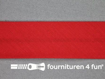 Rol 25 meter katoenen biasband 30mm rood