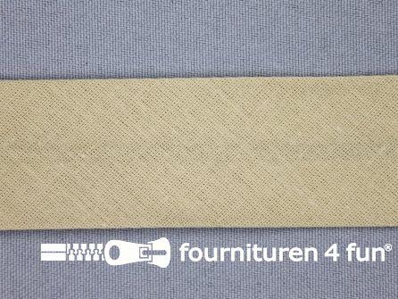 Rol 25 meter katoenen biasband 30mm beige
