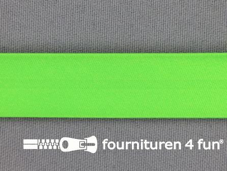 Satijnen biasband 18mm neon groen