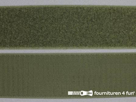 Klittenband 50mm leger groen
