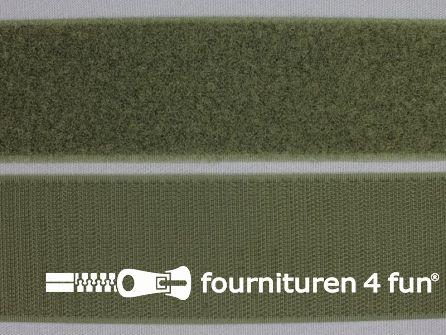Rol 25 meter klittenband 50mm leger groen