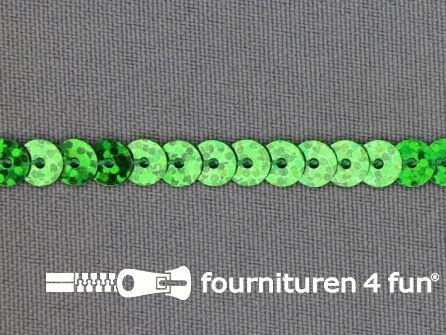 Pailletten band 6mm hologram groen