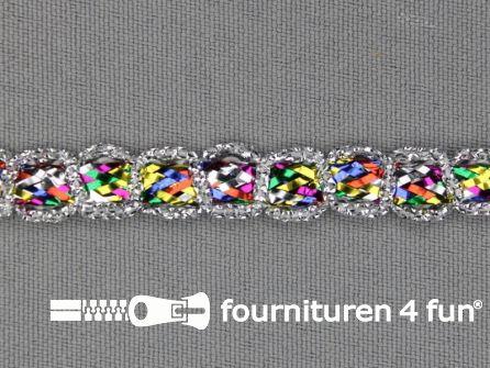 Zilver band 9mm multicolor