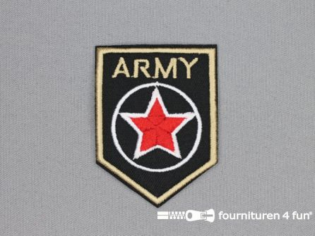 Army / Space applicatie 50x68mm Army rang ster