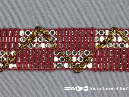 Party band 26mm bordeaux rood