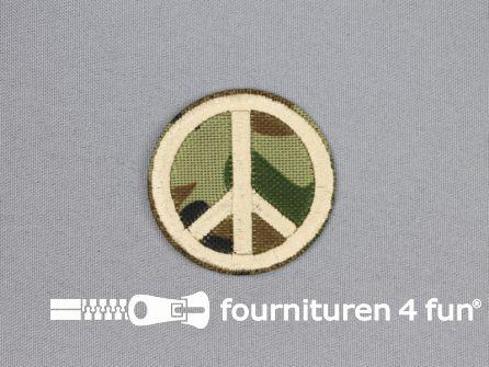 Army / Space applicatie 49x49mm peace teken
