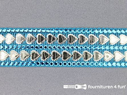 Party band 27mm aqua blauw