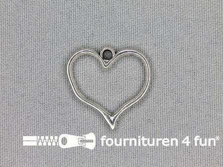Steampunk hanger 23x23mm hart zilver