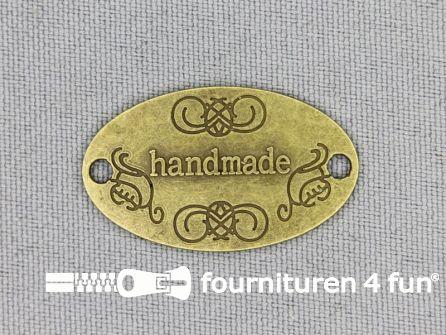 Steampunk hanger 31x19mm Handmade brons