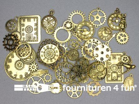Steampunk assortiment 40 stuks goud