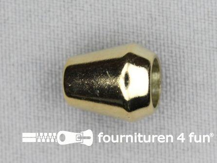 Kunststof koord uiteinde 12x14mm goud