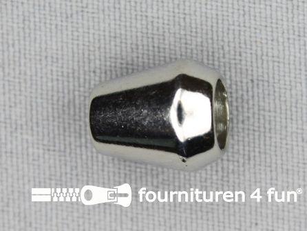 Kunststof koord uiteinde 12x14mm chroom