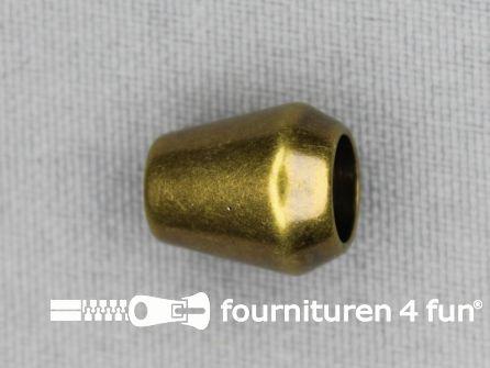 Kunststof koord uiteinde 12x14mm brons