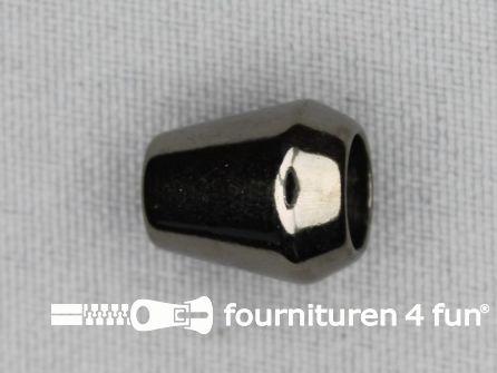 Kunststof koord uiteinde 12x14mm zwart zilver