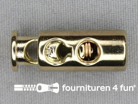 Koord stopper 27mm cilinder goud