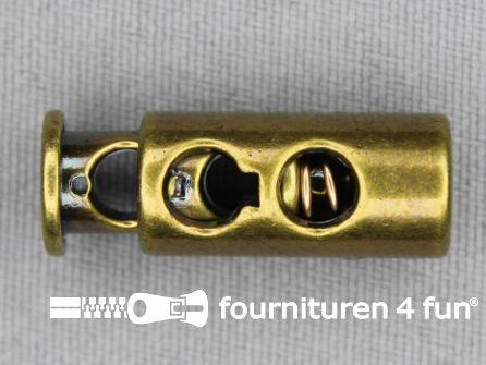 Koord stopper 27mm cilinder brons