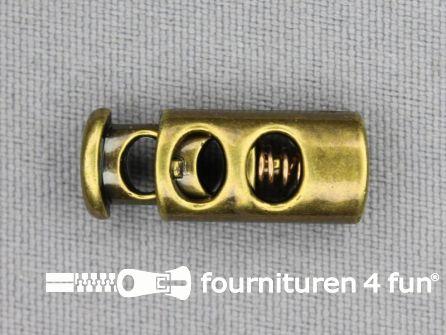 Koord stopper 23mm cilinder brons