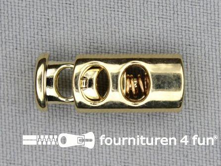 Koord stopper 23mm cilinder goud