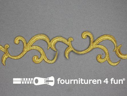 Barok applicatie 45mm goud - per meter