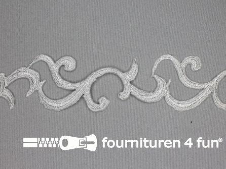 Barok applicatie 45mm zilver - per meter