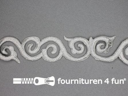 Barok applicatie 40mm zilver - per meter