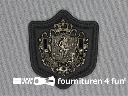 Insigne op skai 47x55mm zwart zilver
