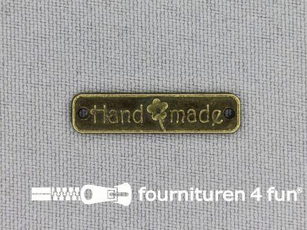 Steampunk label 25x6mm Handmade brons