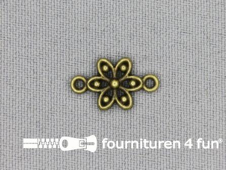 Steampunk hanger 17x10mm bloem brons