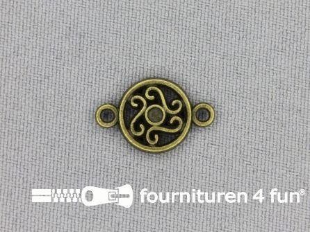 Steampunk hanger 19x12mm bloem brons