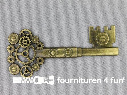 Steampunk sleutel 70x32mm brons