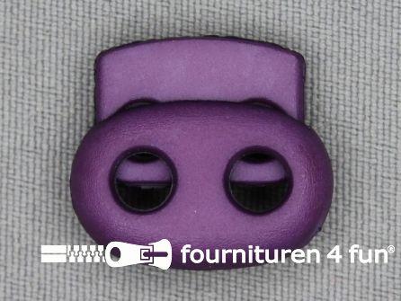 Koord stopper 23mm dubbel paars