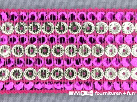 Party band 43mm fuchsia roze