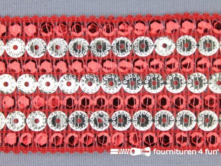 100 meter party band 43mm rood
