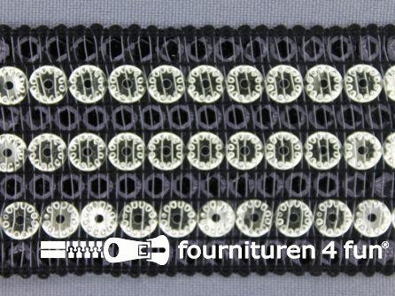 Party band 43mm zwart