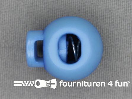 Koord stopper 22mm bal aqua blauw
