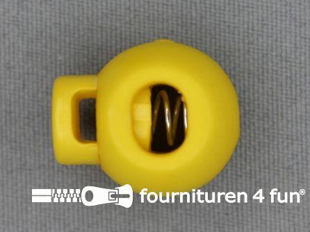 Koord stopper 22mm bal geel