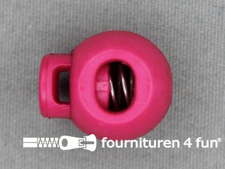 Koord stopper 22mm bal fuchsia roze