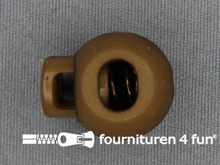 Koord stopper 22mm bal licht bruin