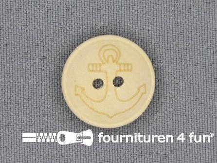 Houten knoop 20mm anker
