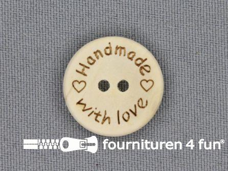 Houten knoop 20mm Handmade With Love