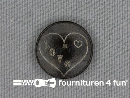 Houten knoop 20mm Love