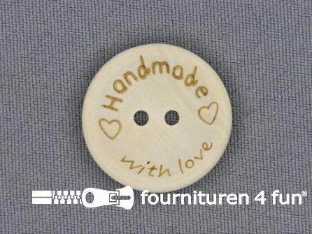 Houten knoop 24mm Handmade With Love