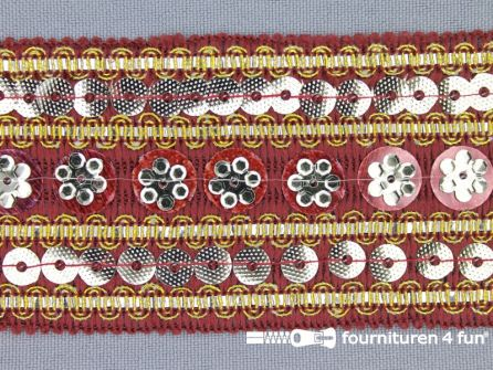 Party band 50mm bordeaux rood
