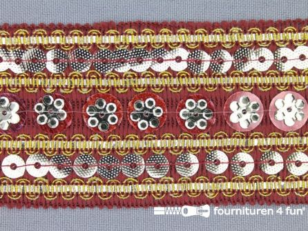 40 meter party band 50mm bordeaux rood