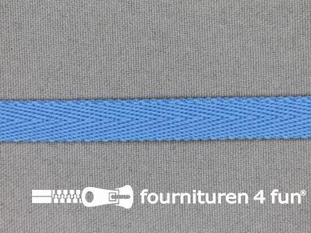 Nylon keperband 10mm donker aqua blauw