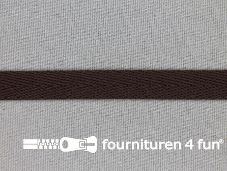 Nylon keperband 10mm donker bruin
